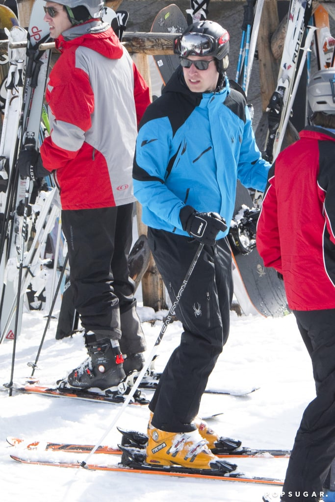 """Prince William was spotted on a relaxing getaway in the Swiss Alps over the weekend, but the trip hasn't come without its fair share of drama. While William looked completely at ease at the Verbier, Switzerland, resort, hitting the slopes and sipping beers with close friend Guy Pelly on Saturday, it was later reported that he ditched his royal duties — specifically a ceremony for Commonwealth Day in the UK — in favor of the """"boozy ski trip.""""  On Monday, William's grandparents, Queen Elizabeth and Prince Philip, were joined by Prince Charles, his wife Camilla, and Prince Harry at Westminster Abbey for the annual event, which celebrates the unity of the 52 countries that make up the Commonwealth of Nations. During the service, Queen Elizabeth shared a message of """"peace-building"""" — and while neither Will nor Kate were in attendance, headlines soon connected the absence to Will's ski trip, with many outlets calling him """"workshy"""" and inferring that he """"left his wife and children at home"""" to carouse with pals.  And while photos of him drinking, high-fiving a female friend, and heading to a nightclub might not put him in the most flattering light considering his royal position, it's worth noting that William didn't appear to be trying to hide or even keep a low profile. It's also entirely possible that William and Kate just weren't expected to attend Commonwealth Day festivities this year. According to a Kensington Palace spokesman, the couple had """"never intended"""" to go to the service. """"The duke and duchess have attended the event for the last two years and look forward to doing so often in the future,"""" he told The Daily Mail. Regarding Will's ski trip, the official added, """"His schedule was private and we would not comment on it."""""""