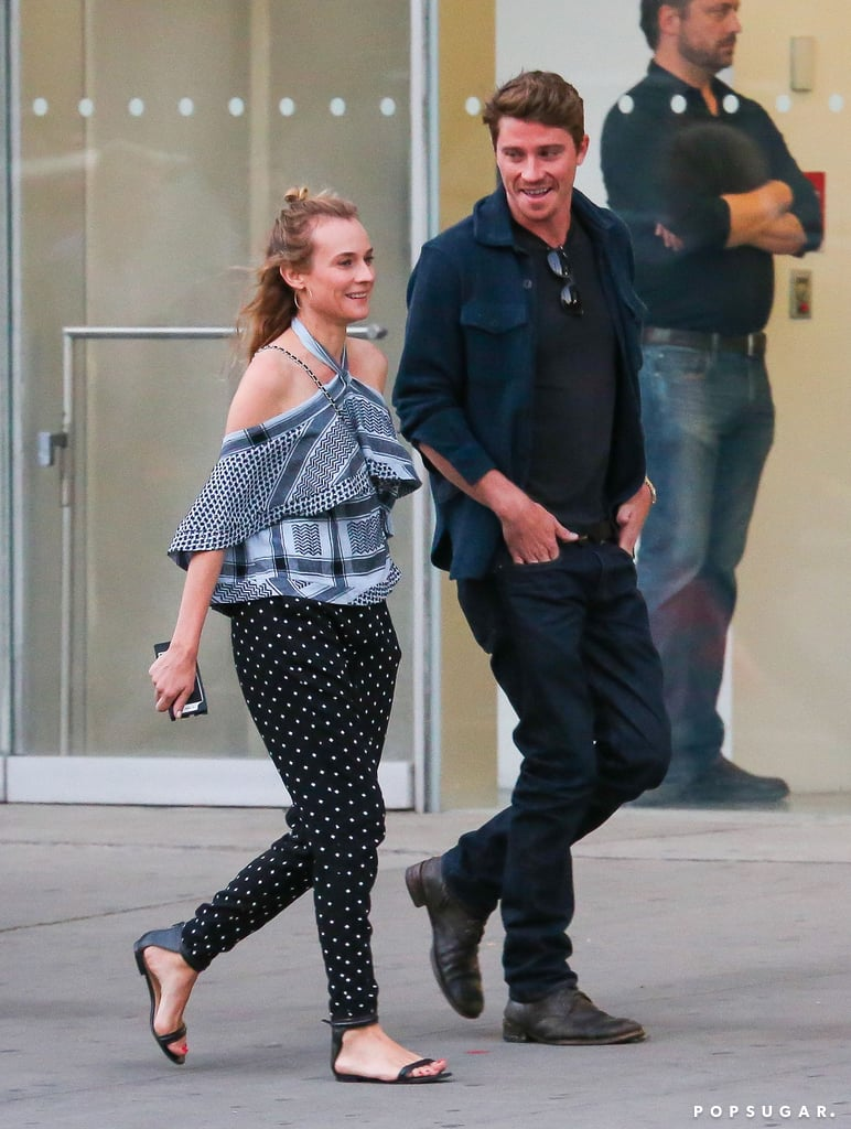 News broke in July that Diane Kruger and Joshua Jackson had split after a decade-long romance, but it seems like the Sky actress is taking it all in stride. A few weeks after hanging out with her ex in LA, Diane enjoyed a cozy dinner in NYC on Monday with Pan actor Garrett Hedlund. Garrett, who ended a four-year relationship with Kirsten Dunst in April, was very smiley as he strolled through the city streets with Diane before the pair shared wine and appetizers at The Butcher's Daughter. They concluded their evening together at the popular NYC bar Ear Inn, where they were seen laughing with friends. It's no eight-hour Rosé-drinking marathon, but it's still a solid night out, if you ask us.