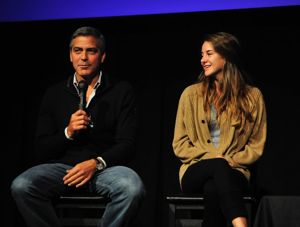 George Clooney and Shailene Woodley.