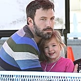 Ben Affleck cuddled with Seraphina.