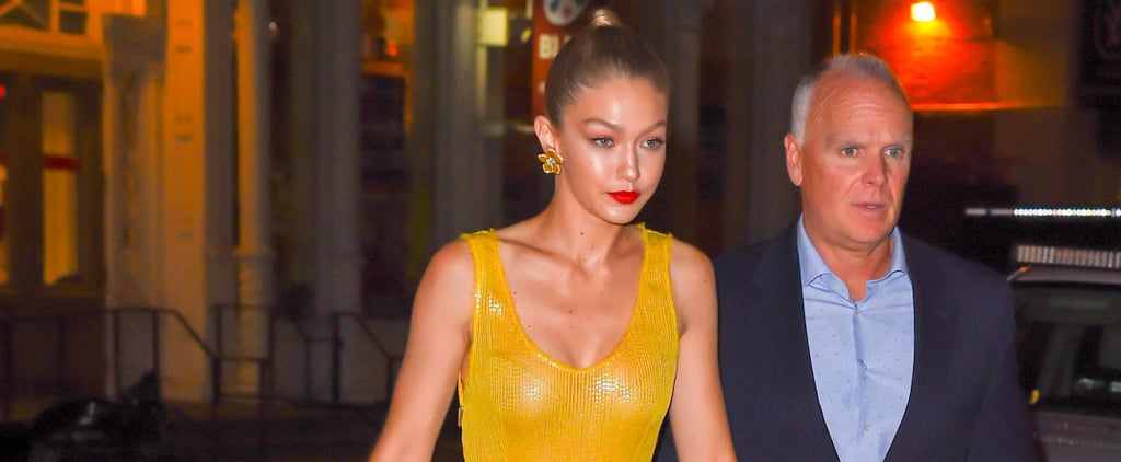 It Might Be Nighttime, but Gigi Hadid Is the Sun in This Sexy Cutout Dress