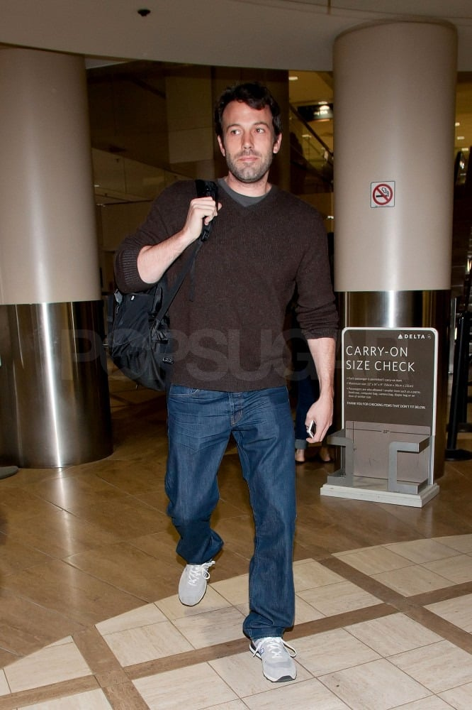 Ben Heads Home to LA Following a Stint on Set With Jennifer in Atlanta
