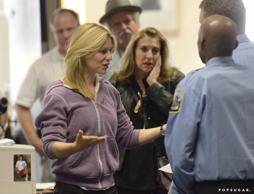 Claire Danes on the set of Homeland.