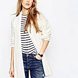 Asos Belted Cardigan In Cable Knit ($69)