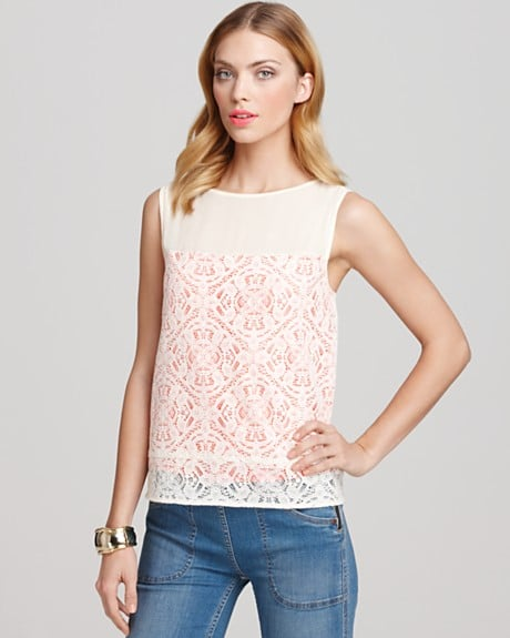 A wear-with-anything top that feels ladylike in the coolest way possible.  Marc by Marc Jacobs Muriel Lace Top ($228)