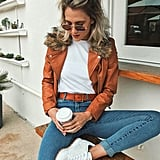 Forever 21 Faux Fur-Trim Moto Jacket