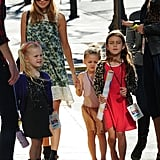 Nicole Richie accompanied Harlow Madden and her friends to a concert in LA.