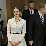 Emma Watson wowed the audience, and then the world, with her empowering speech about gender equality at the HeForShe campaign launch at the UN on Saturday.