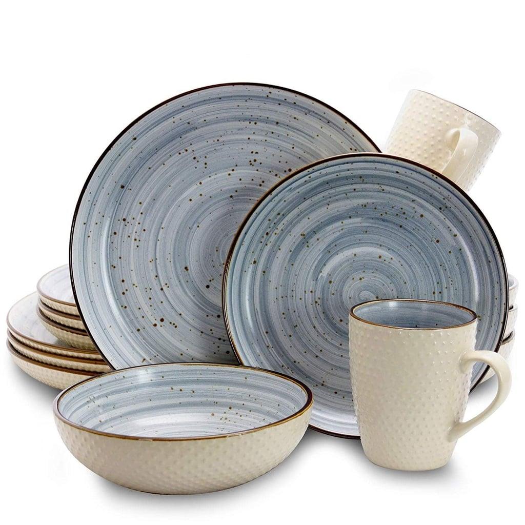 Elama Mellow Blue Dinnerware Set