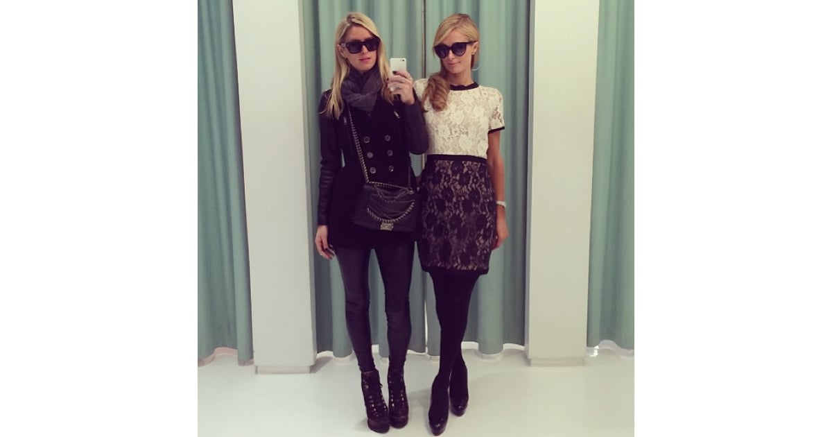 Nicky And Paris Hilton Took Dressing Room Selfies During A Shopping  Celebrity -5636