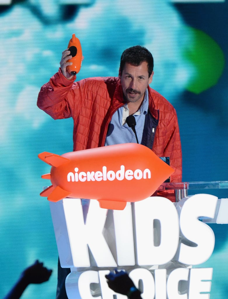 9ee3c4ac993 Adam Sandler and Daughters at Kids  Choice Awards 2016