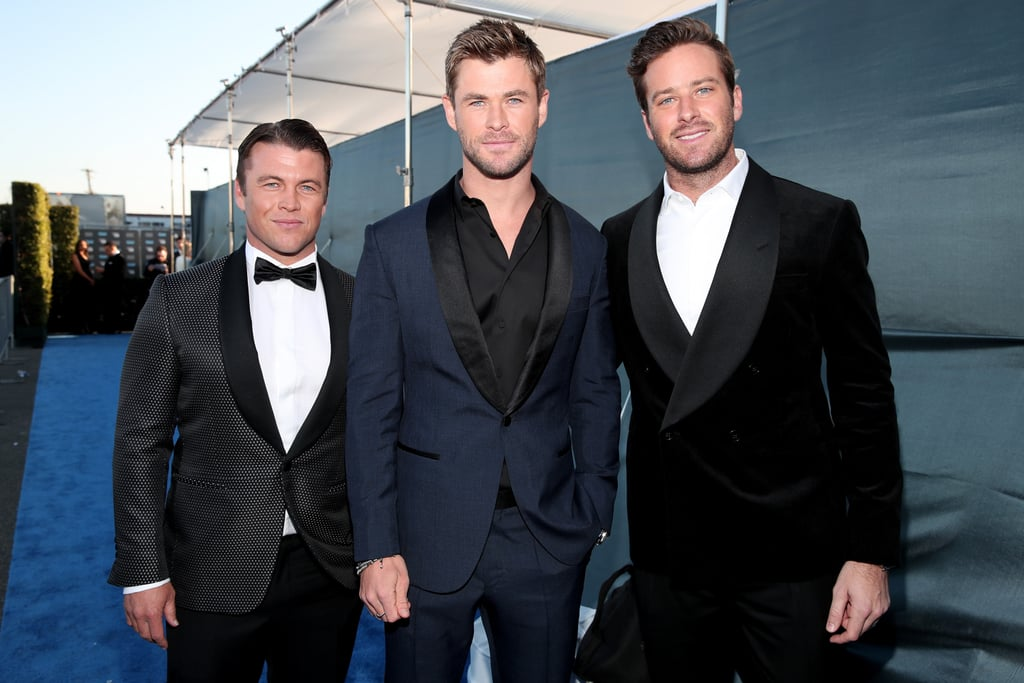 Pictured: Luke Hemsworth, Chris Hemsworth, and Armie Hammer