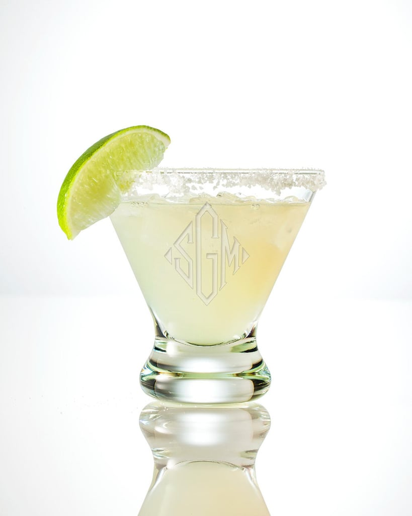 Monogrammed Margarita Glass Set