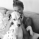 Nina Agdal shares photos of her family's dalmatian on her Instagram feed. Source: Instagram user ninaagdal