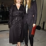 At New York Fashion Week in September 2002, Stella was chic in a black trench coat, while pal Gwyneth was sleek in a black suit and a newsboy cap. Both wore pointy black pumps to complete their well-coordinated looks.