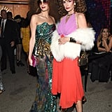 For the 2017 Casamigos Halloween party, Amal tapped into the disco era with her costume. She wore glittery flared pants and a bustier top from Halpern's Spring 2018 collection complete with oversize hoop earrings and Linda Farrow sunglasses.