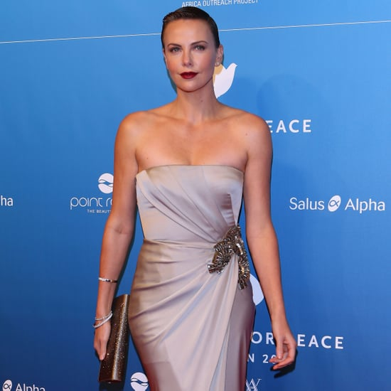 Charlize Theron In Long Silver Gown At Cinema For Peace Gala