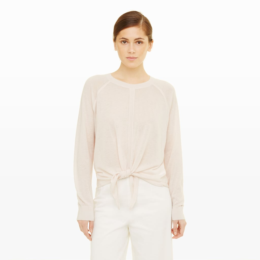 6417ba4bdf79c1 Club Monaco Thanda Tie-Front Cashmere ($249)   Summer Sweaters ...