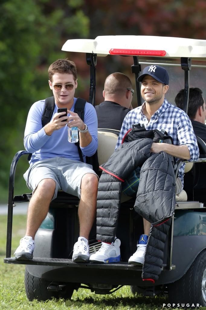 Kevin Connolly and Jerry Ferrara were enjoying each other's company.