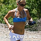 Kate Hudson showed off her abs while out for a jog in Australia in January of 2007.