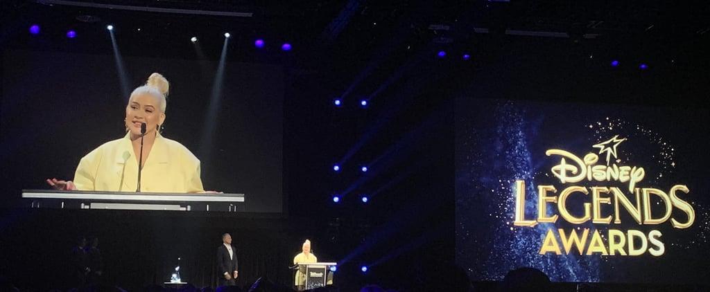 Christina Aguilera Reflection From Mulan at D23 Expo