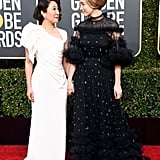 Sandra Oh and Jodie Comer at 2019 Golden Globes