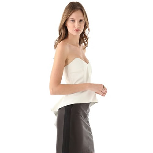 Mason by Michelle Mason's Cascade Bustier Peplum Top ($308) is a statement piece on its own; style it with a simple black skirt or trousers for a minimalist appeal.