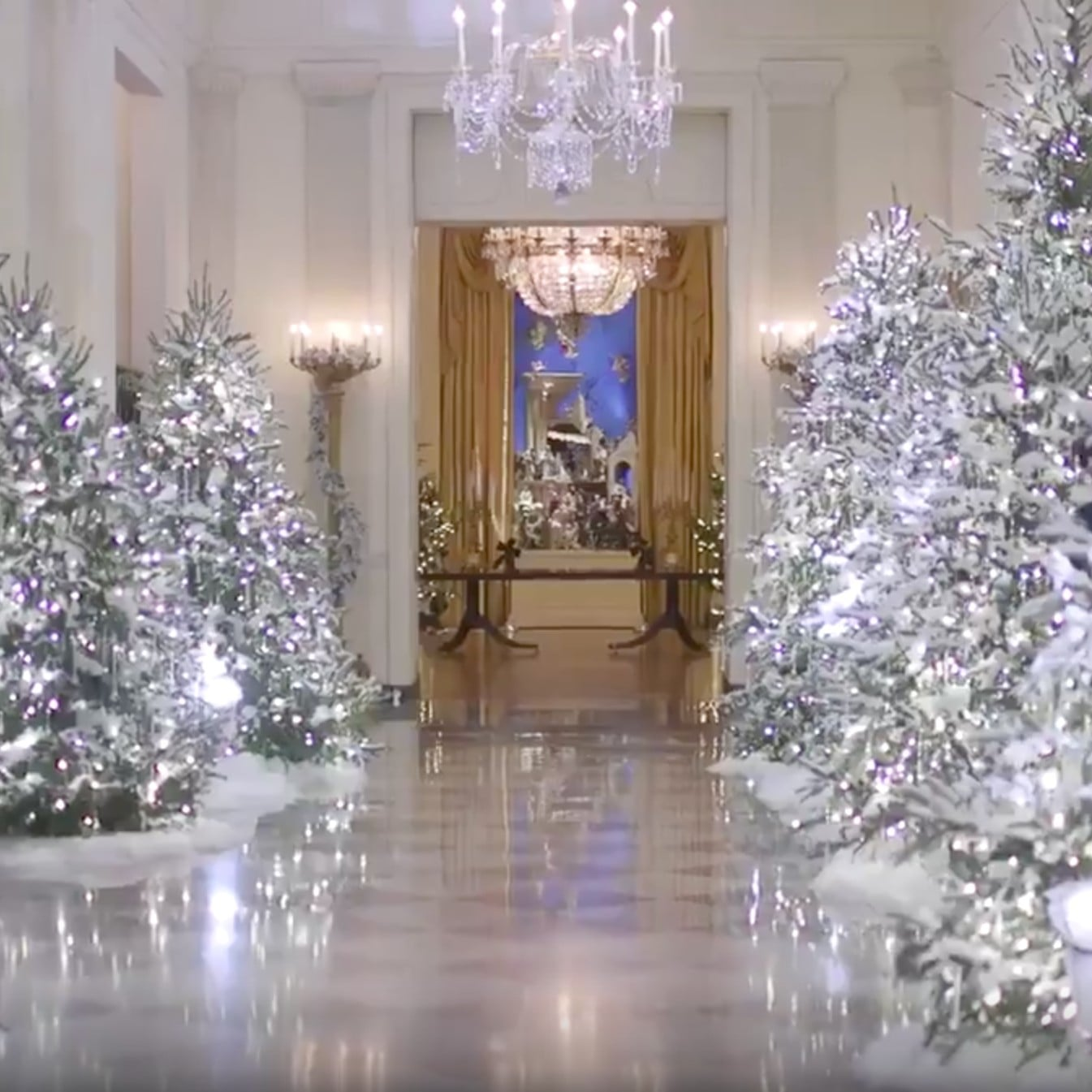 white house holiday decorations 2017 popsugar family - The White House Christmas Decorations 2017