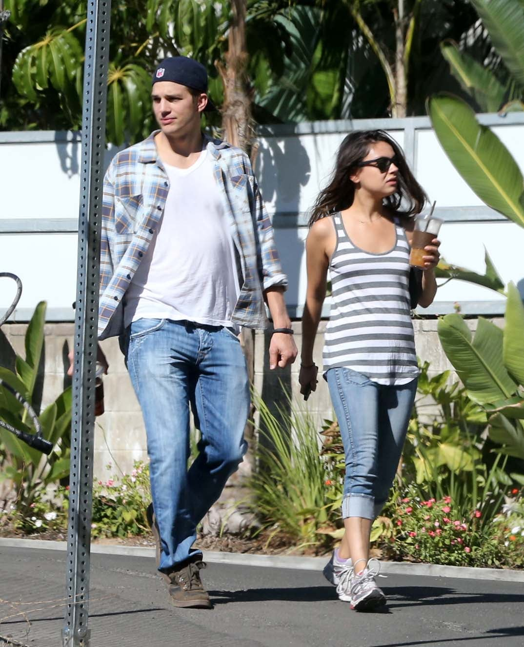Ashton Kutcher and Mila Kunis were out together in LA.