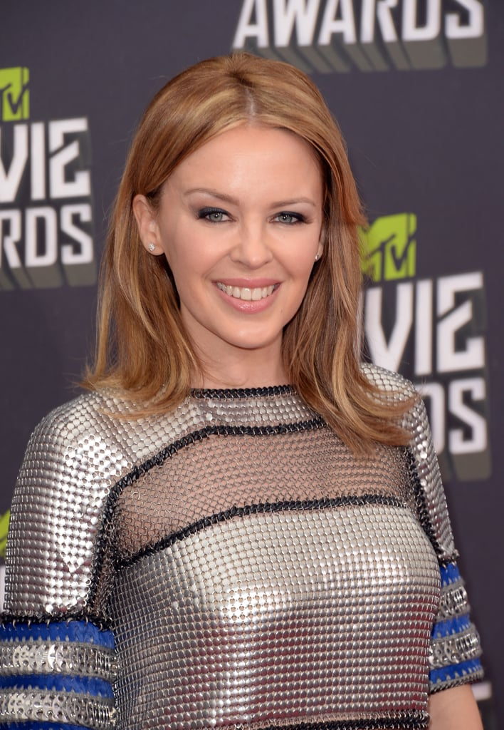 Kylie Minogue at the MTV Movie Awards.