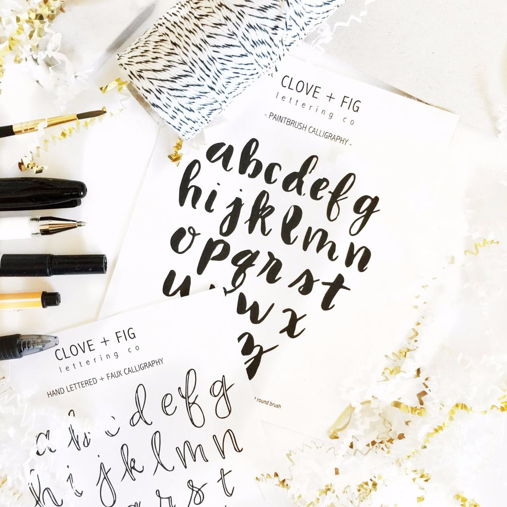 How To Learn Calligraphy Popsugar Smart Living
