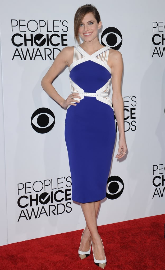 Allison sported an avant-garde look for the 40th annual People's Choice Awards, proving that cobalt blue is definitely one of her power colors.