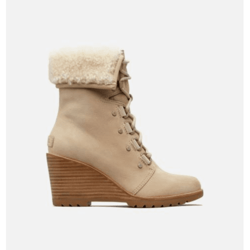 SOREL After Hours Lace Shearling Boot