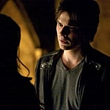 "Ian Somerhalder smolders as Damon on the season finale, ""Home."""