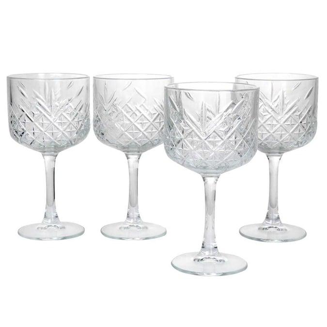 Pasabahce Pasabahce Timeless 4 Piece Glass 17 Ounce Cocktail Glasses Lowes.com