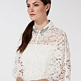Debenhams Debut Ivory Eternity Lace Stone Embellished Collar Cape (£99)