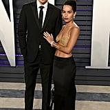 Zoe Kravtiz Gold Bra at Oscars Afterparty 2019