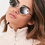 Quay Purple Honey Geometric Sunglasses