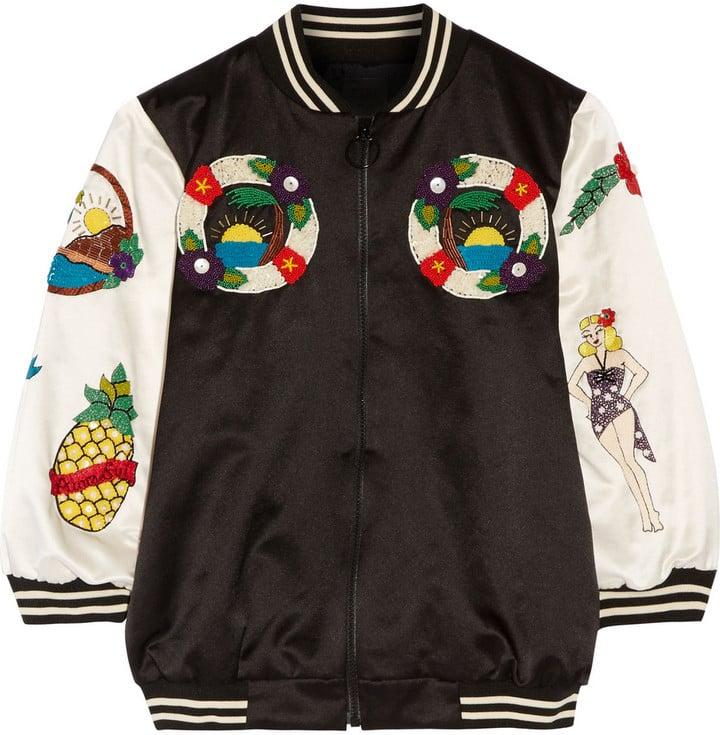 4e10b9ce6 Anna Sui Embellished Cotton-Blend Bomber Jacket ($1,425)   Pineapple ...