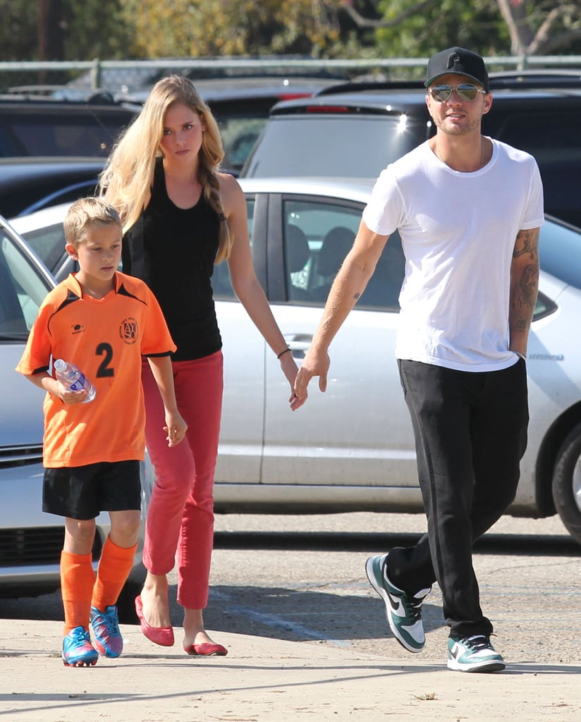 Ryan Phillippe brought his girlfriend, Paulina Slagter, to his son Deacon's soccer match in Brentwood, CA, on Saturday. Ryan and Paulina, who is reportedly a student at Loyola Marymount University, have been dating since last December and it looks like they're still going strong. She was also in attendance at a few of Deacon's flag football games over the Summer. Ryan wasn't the only Hollywood star on the field over the weekend, since Mark Wahlberg watched his own son play and Heidi Klum cheered on her kids. Ryan will soon switch gears back to business with the December release of his next film, Straight A's.