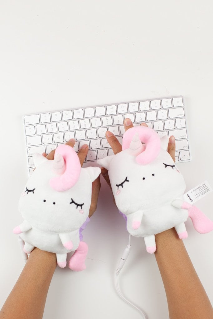 Picture yourself chilling like a villain with your fabulous weighted blanket when all of sudden you start to realize your hands are cold. I know I'm not the only one! Ahem — *drum roll please* — introducing the Angie Unicorn USB Wired Handwarmers ($35), which happen to be the cutest handwarmers I've ever seen.  If I swap out my favorite fingerless gloves for these unicorn handwarmers, it's OK, right? I'm going to go with yes because this is the perfect accessory to set yourself up for cozy bliss. The handwarmers come with an adjustable strap, a USB port, and a temperature control that allows you to set your level of warmth from low to high. Once you get your hands on a cozy pair, try these light-up unicorn slippers, too, and you can have yourself a true unicorn party!      Related:                                                                                                           Unicorns, Rainbows, Mermaids, Oh My! The Ultimate Shopping Guide For a Magical School Year