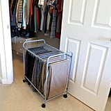 Evelots 18-Pair Rolling Trouser Trolley Removable Pants Hanger
