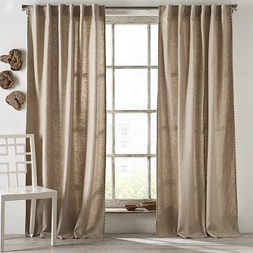 Nailhead Linen Window Panel ($50-$70)