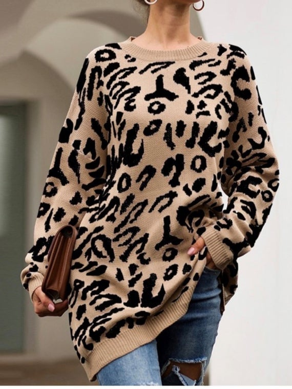 Seeds of Greatness Playful Animal Print Sweater