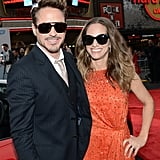 Robert Downey Jr. and his wife, Susan Downey, hit the red carpet for the premiere of Iron Man 3 in LA.