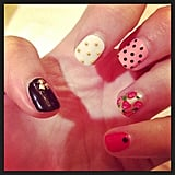 Lena Dunham showed us a sneak peek of her manicure last night. Source: Instagram user lenadunham