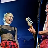 Gwen Stefani and Gavin Rossdale Kissing on Stage