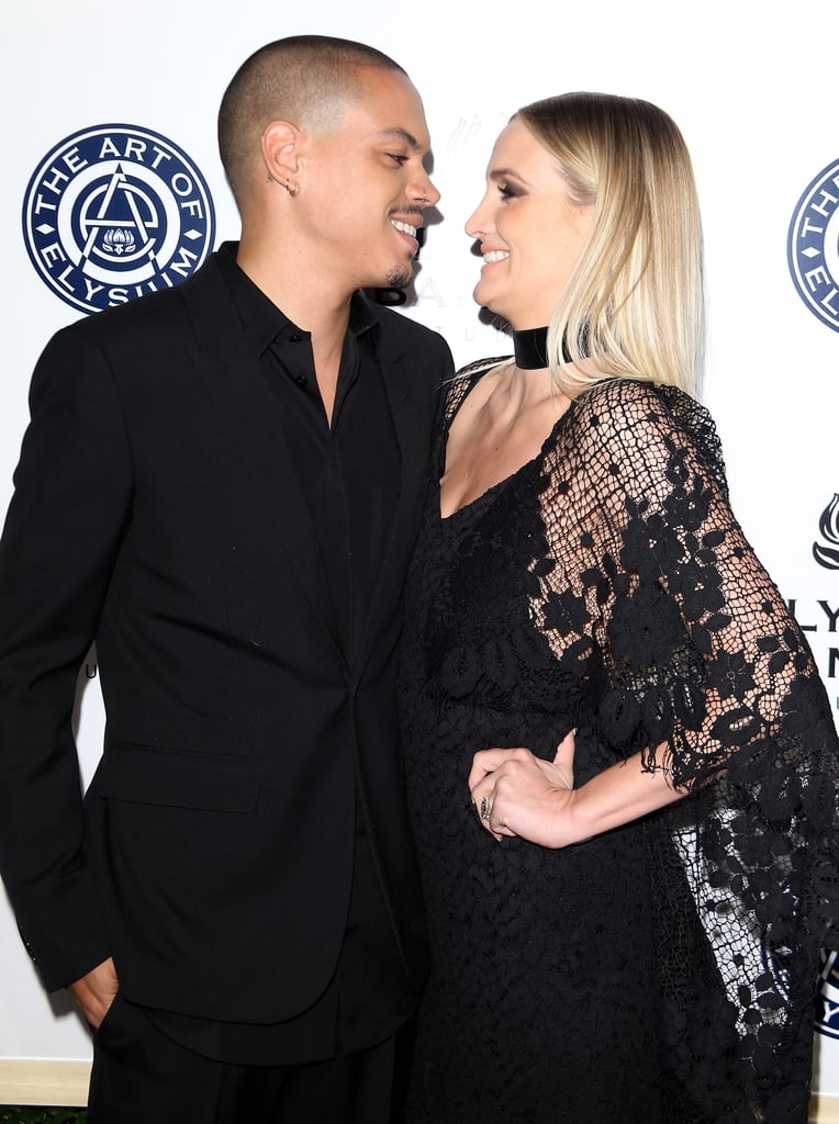 The Art of Elysium Gala took over LA on Saturday night and brought out a handful of celebrity couples, including Ashlee Simpson and Evan Ross. The pair — who tied the knot back in August 2014 — shared a few laughs and gazed lovingly into each other's eyes in front of the cameras. Although the duo has yet to hit a red carpet with their adorable daughter, Jagger, Ashlee often shares sweet family moments between Jagger and her son, Bronx, whom she shares with ex-husband Pete Wentz, on social media.      Related:                                                                                                           A Sweet Look Inside Ashlee Simpson and Evan Ross's Fairy Tale Romance