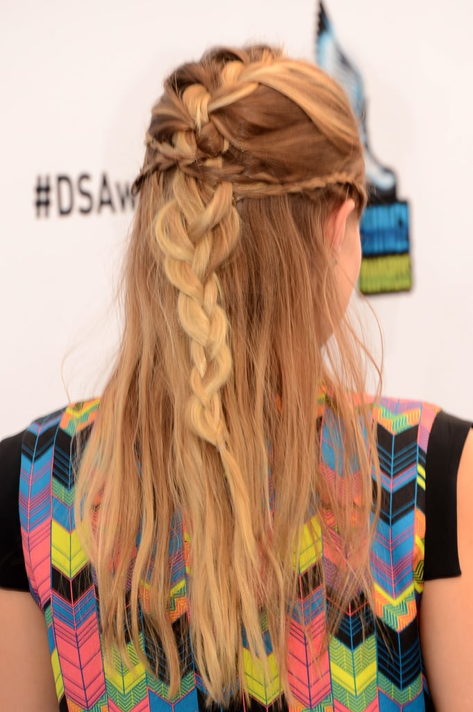 One of the more memorable hairstyles she's ever pulled off was at the 2012 Do Something Awards. Kristen twisted a bevy of braids into a playful, half-up style.