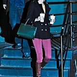 On Thursday, Taylor Swift held her Starbucks cups tightly in NYC.